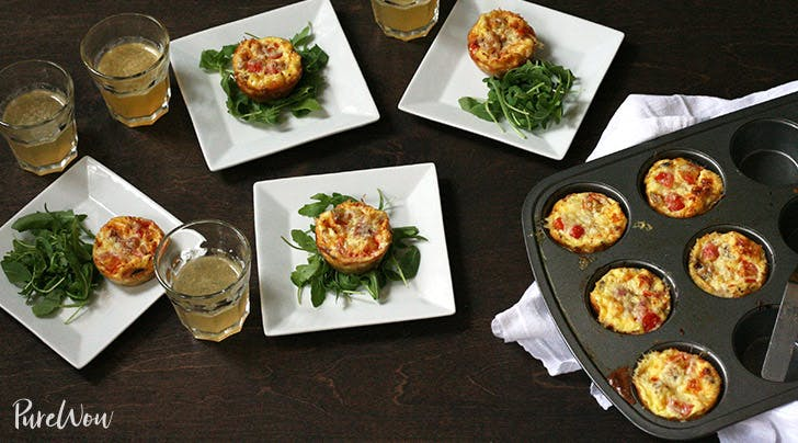 Mini Quiches with Hash Brown Crusts
