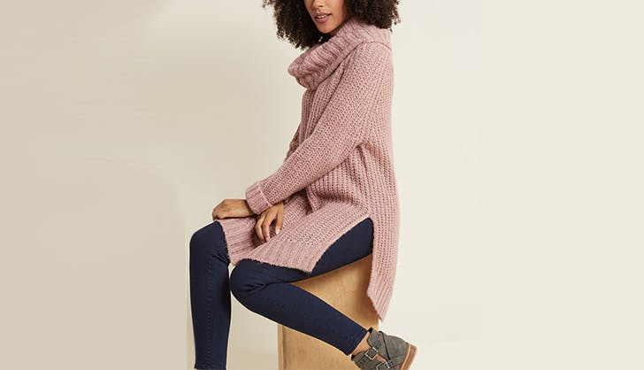 modcloth turtleneck sweater maternity clothing