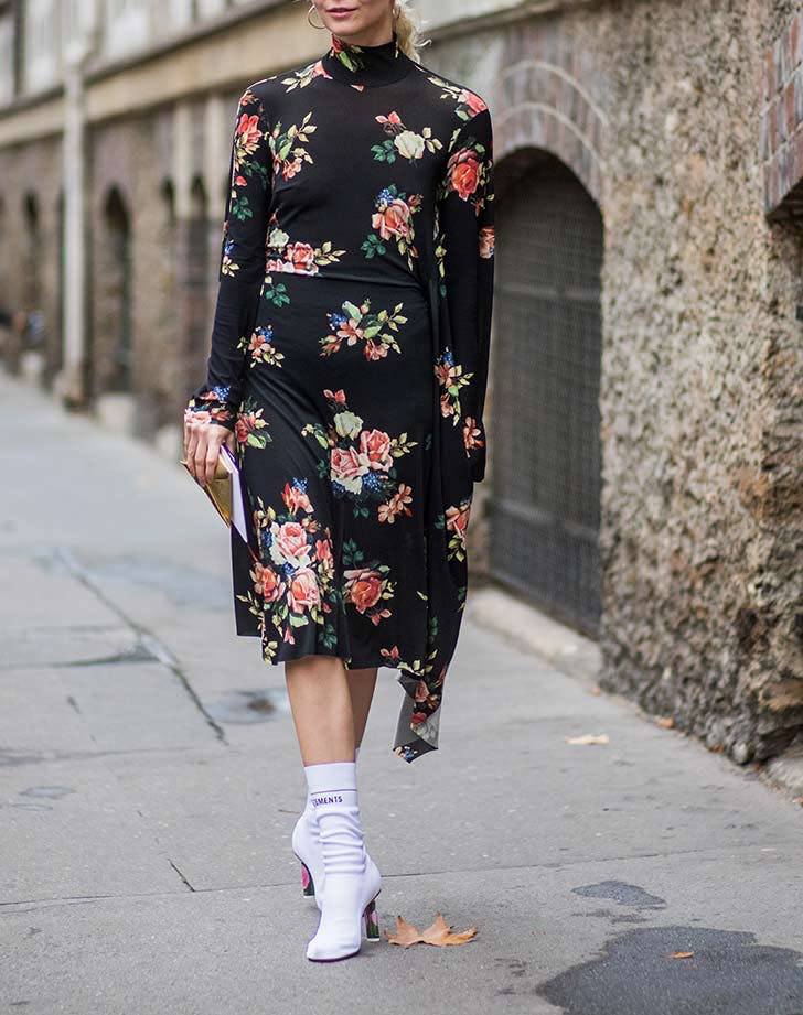 moody floral dress fall staples NY