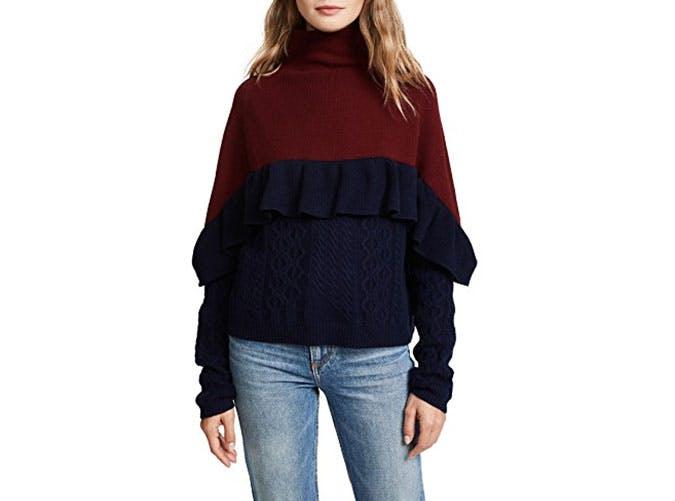 naadam colorblock sweater  13