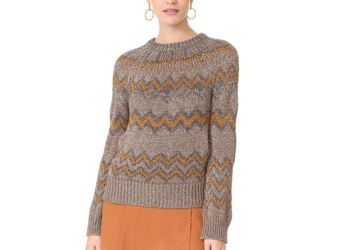 nude chevron sweater  26
