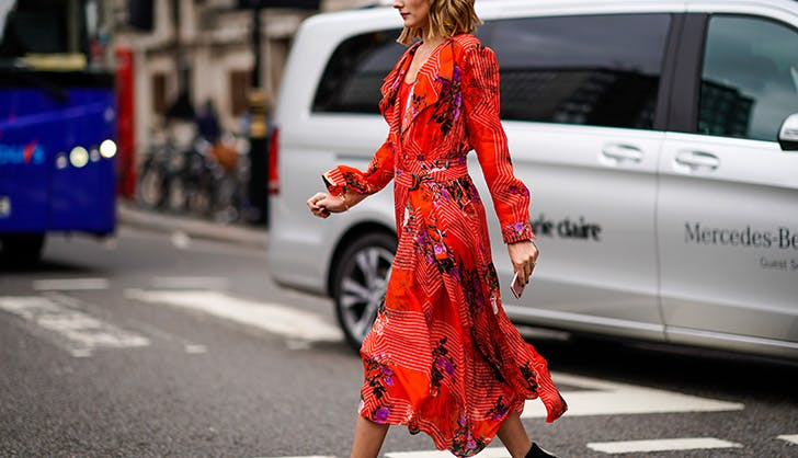 olivia palermo red dress street style