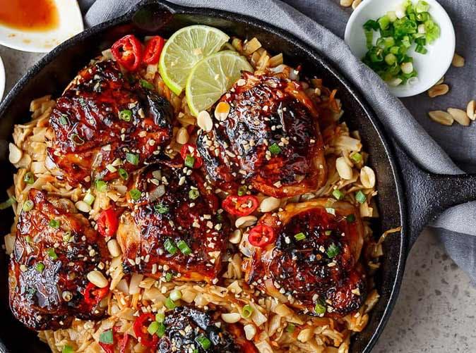 one pan thai chicken thighs 5011