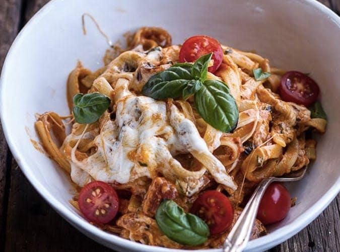 onepot tomato basil pasta SLIDE