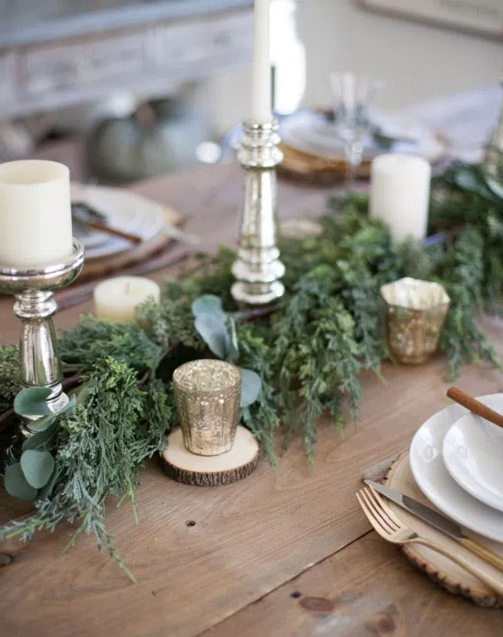 outdoor inspired tablescape greenery LIST