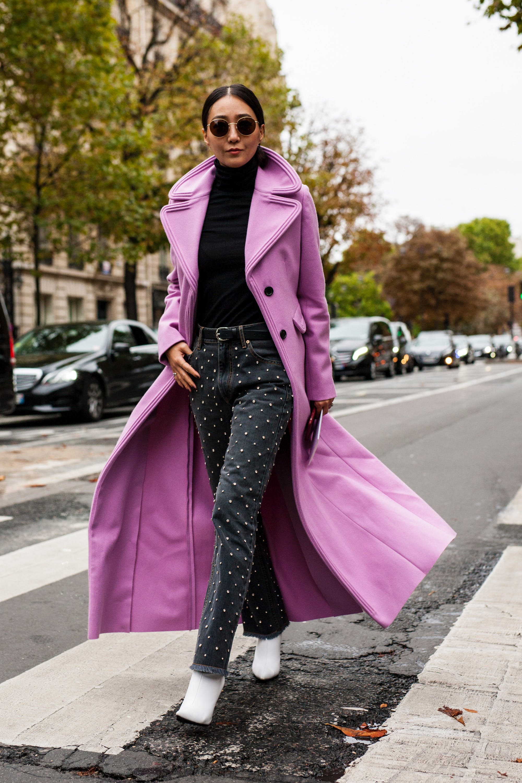 paris street style dramatic coat
