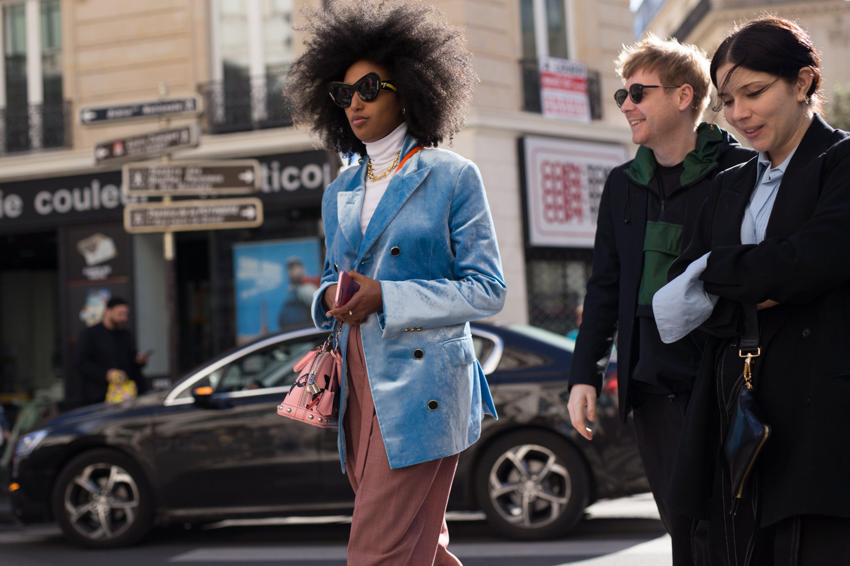paris street style velvet pastels