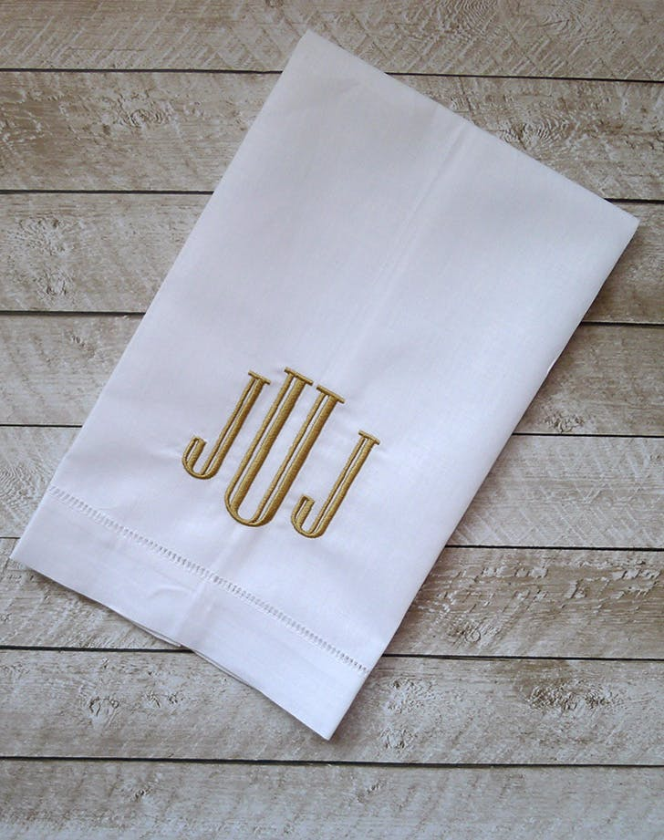personalized gifts linen towels