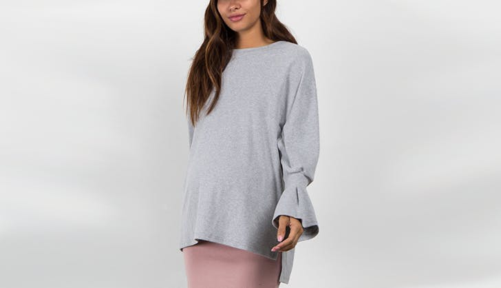 pinkblush sweater maternity clothing
