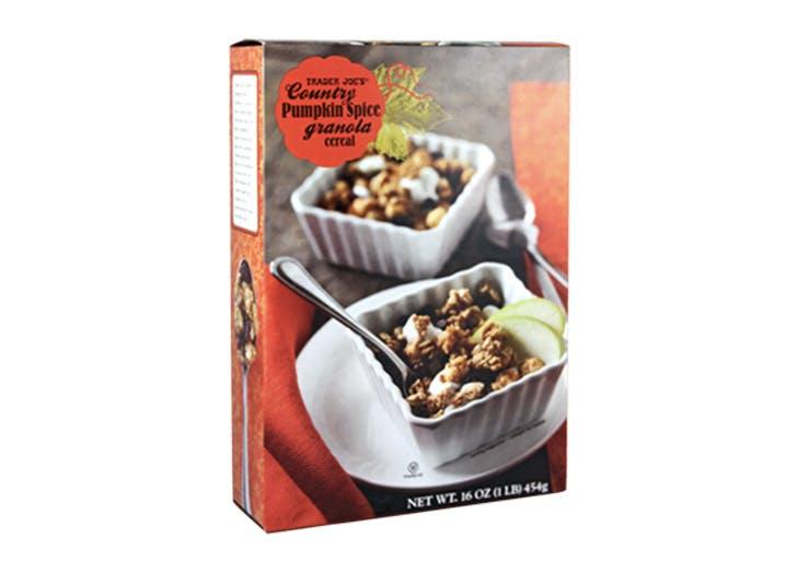 pumpkin granola cereal