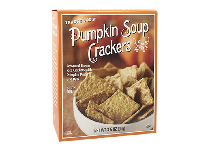 pumpkin soup crackers
