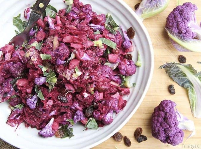 pureple cauliflower beet slaw SLIDE