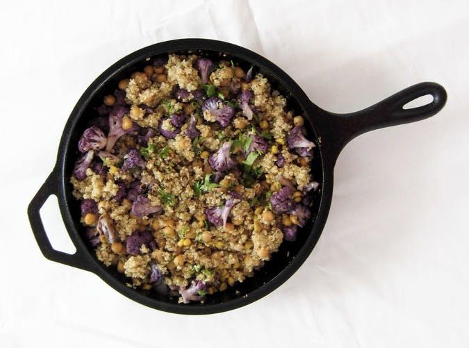 purple  cauliflower chickpea skillet SLIDE