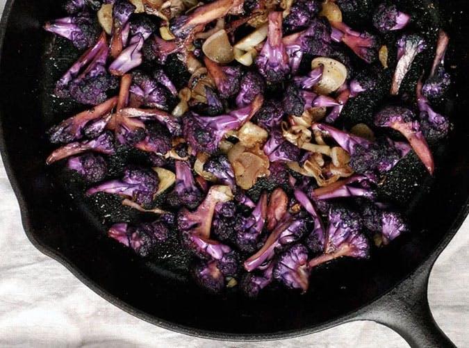 purple cauliflower garlic saffron SLIDE