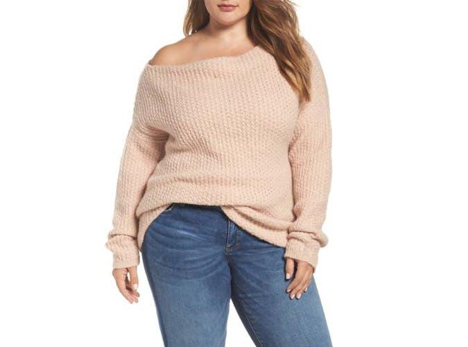 rachel roy off the shoulder sweater  42