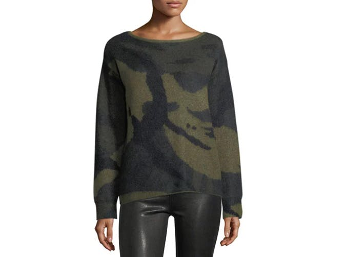 rag and bone camo sweater  28