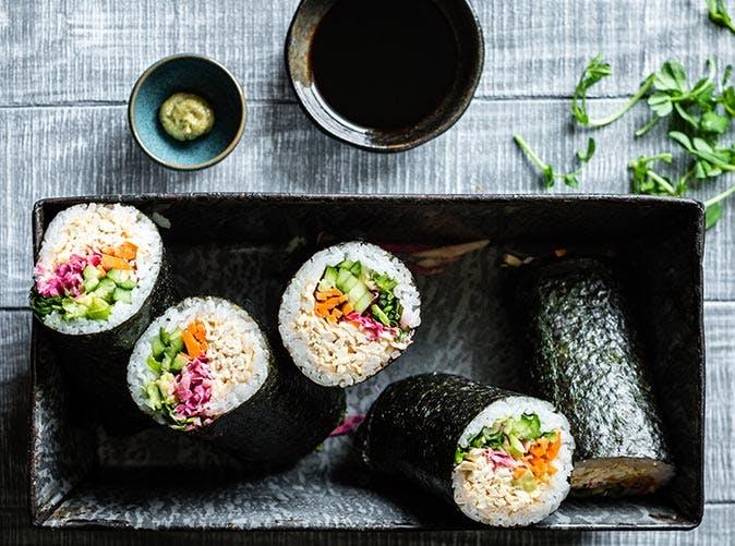 rainbow tofu sushi burritos 501