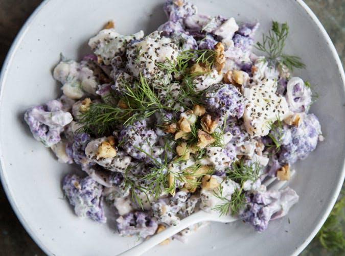 raw purple cauliflower salad SLIDE