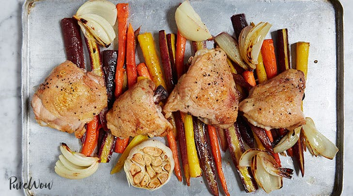 One-Pan Roasted Chicken with Carrots