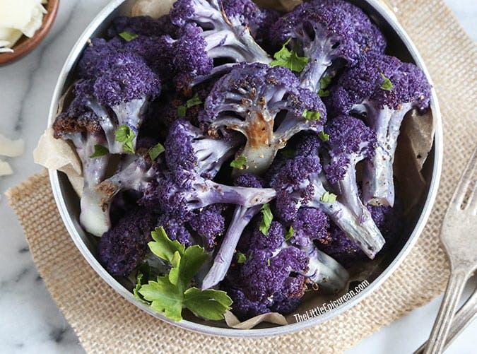 roasted purple cauliflower SLIDE