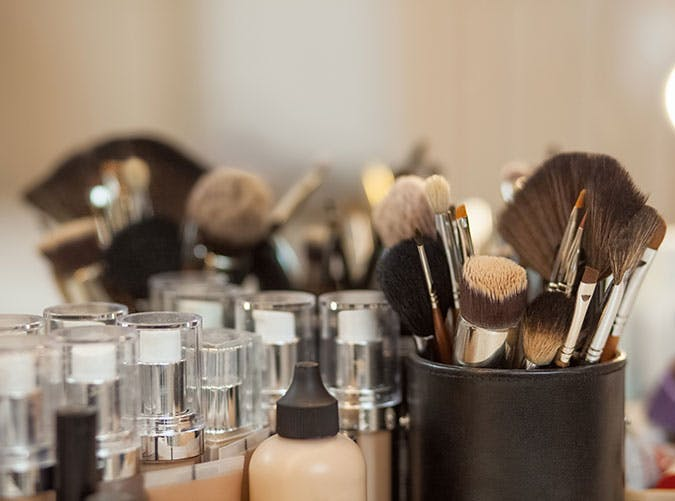 set of brushes for make up foundation
