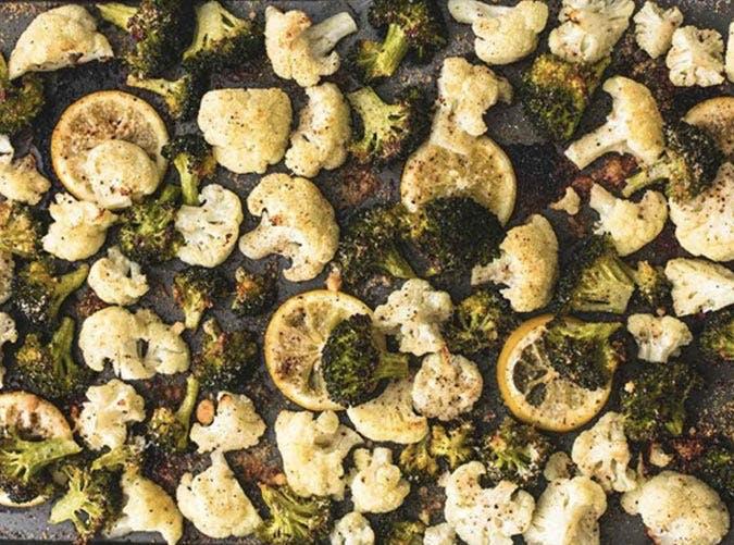 sheet pan broccoli cauliflower SLIDE