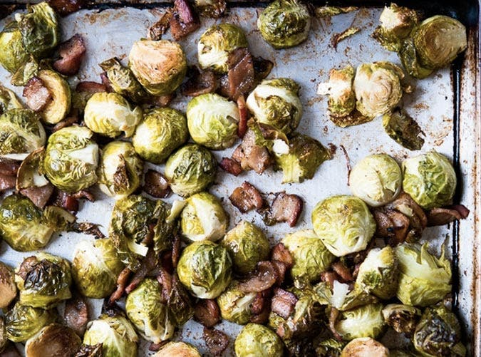 sheet pan brussels sprouts SLIDE