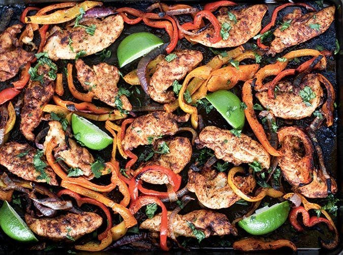 sheet pan chicken fajitas SLIDE