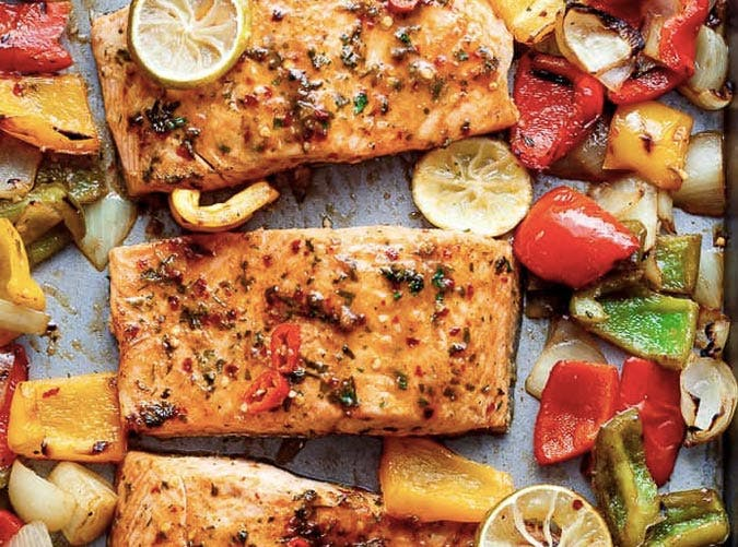 sheet pan chile lime salmon SLIDE