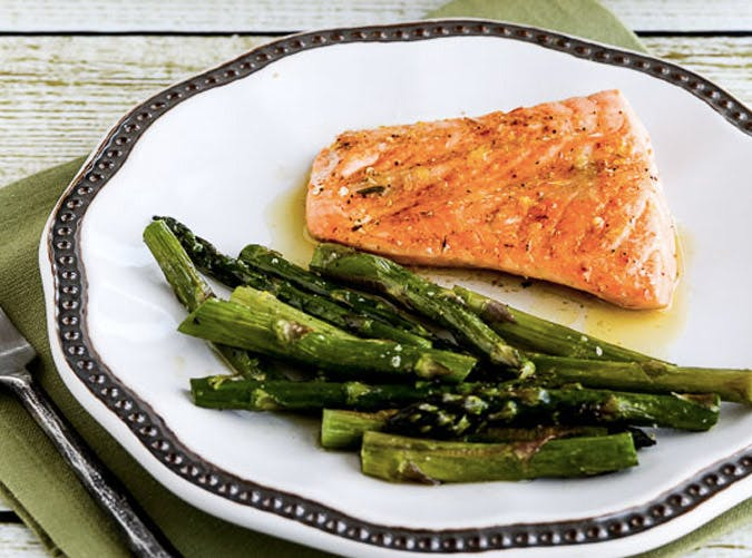 sheet pan salmon asparagus SLIDE
