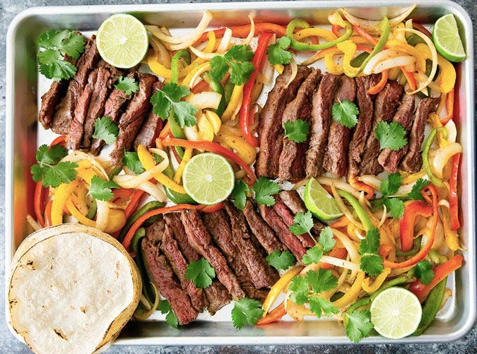 sheet pan steak fajitas SLIDE