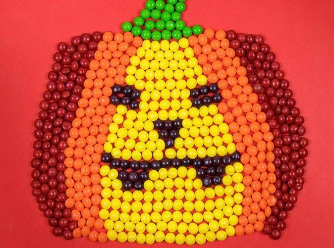 skittles pumpkin 501