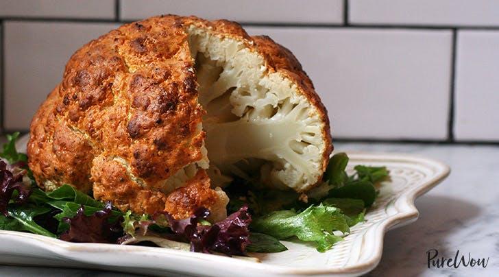 Spicy Whole Roasted Cauliflower