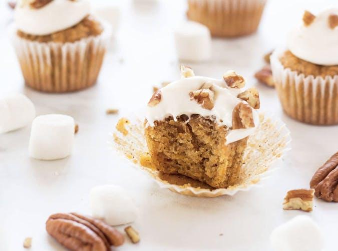 sweet potato cupcakes marshmallow frosting 501