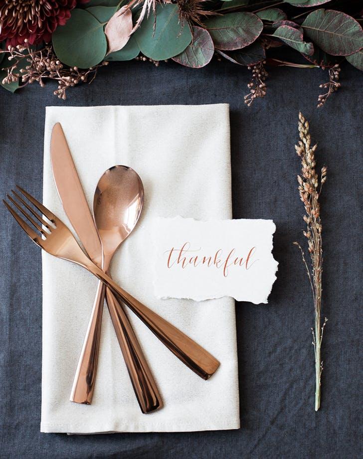 thanksgiving table setting idea 1