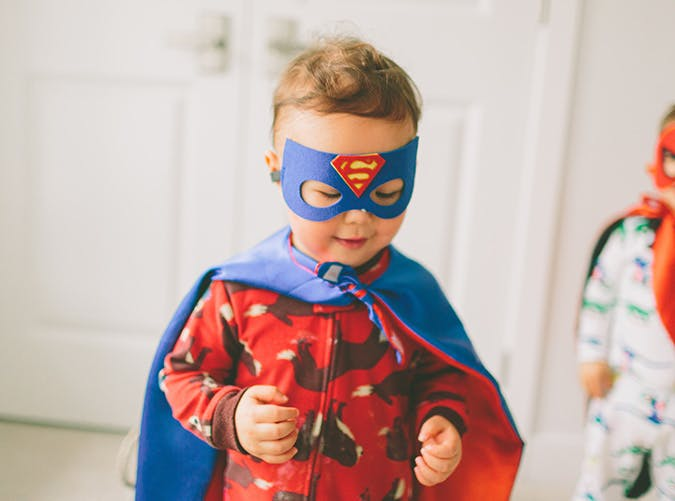 toddler boy dressed as superhero 501
