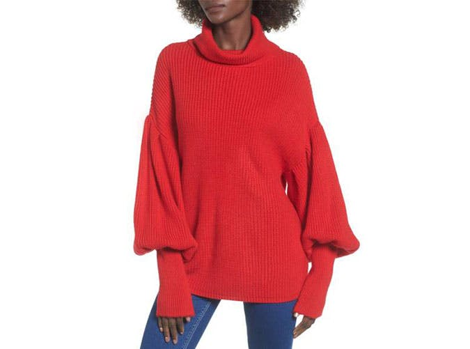topshop red sweater  3