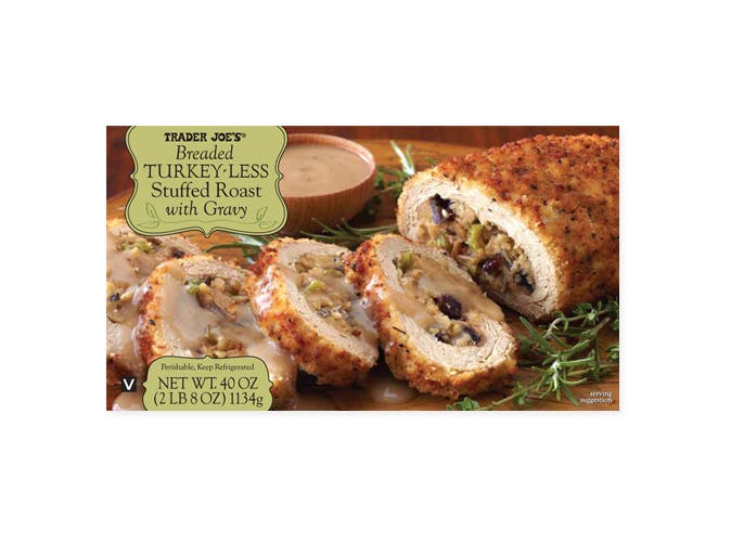 trader joes breaded turkey less stuffed loaf with gravy 501