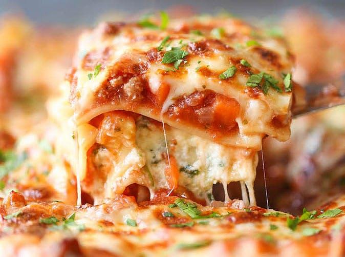 turkey spinach veggie lasagna 501