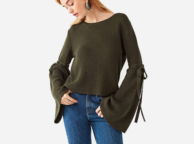 urban outfitters bell sleeve sweater  17 1