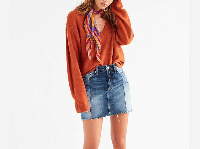 urban outfitters orange sweater  9
