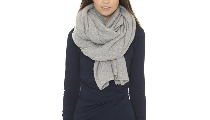 white and warren cashmere scarf