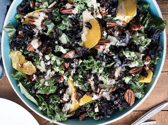 whole30 lunches pecan kale bowl SLIDE