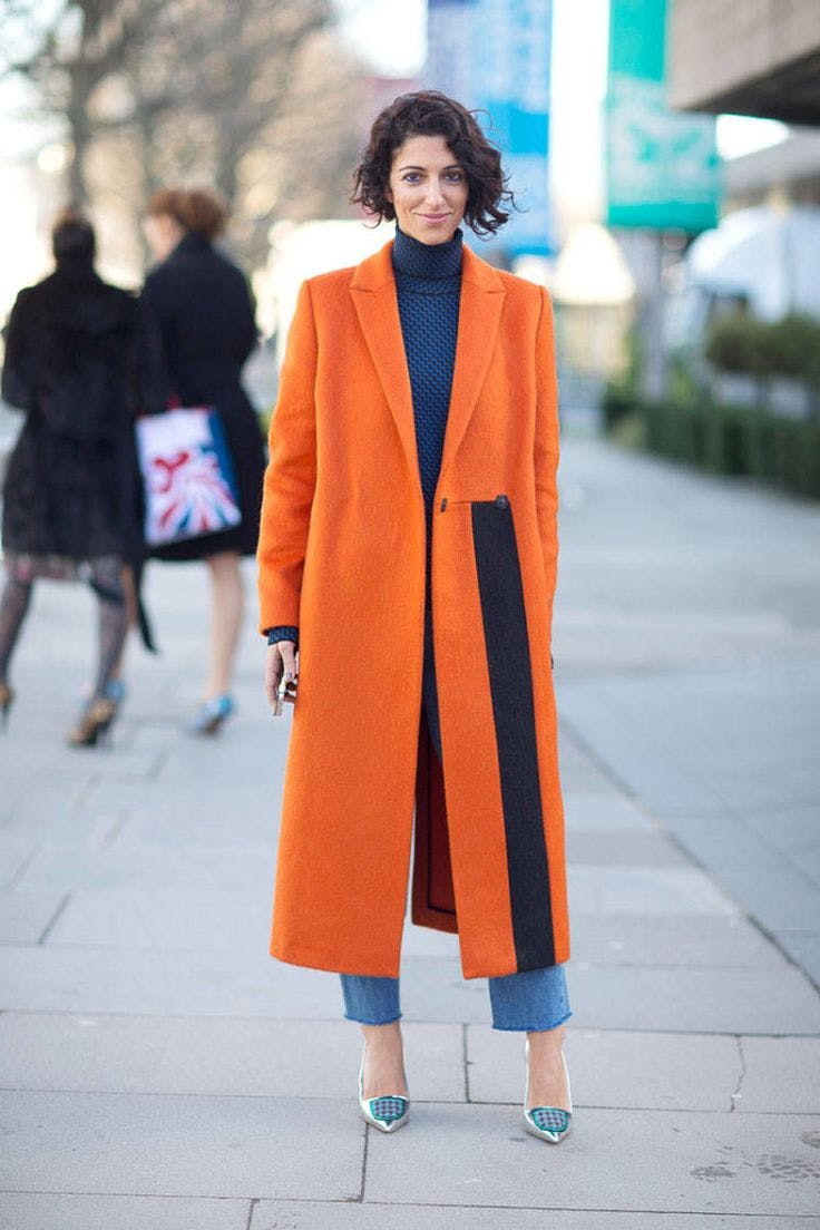 yasmin sewel wear orange november style ideas