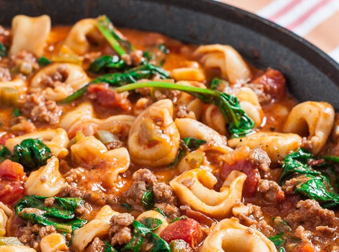 20 Minute Skillet Tuscan Tortellini big batch recipes