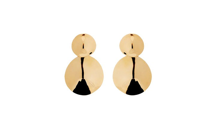 Agmes Gold Tiered Earrings