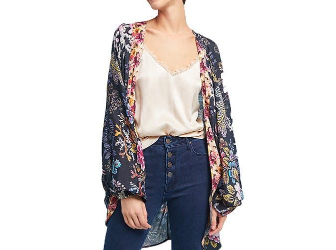 Anthropologie Floral Kimono