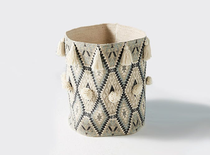 Anthropologie Tasseled Basket