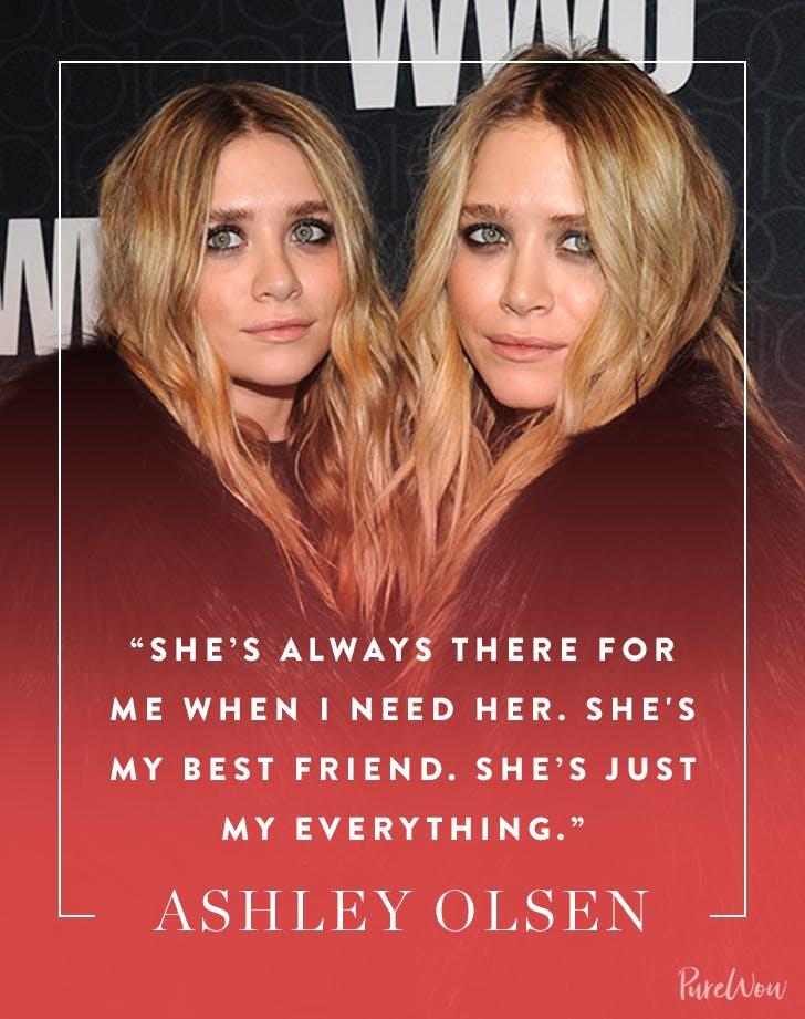 Ashely Olsen sister quote