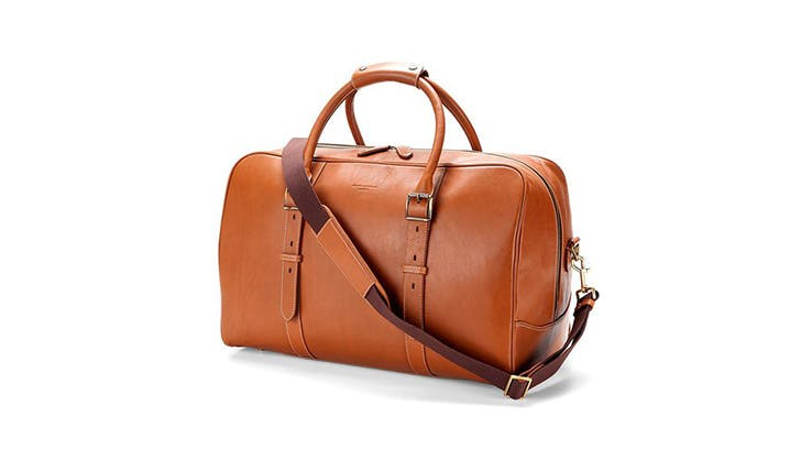 Aspinal of london leather weekender